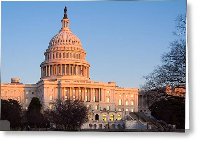 Congressman Greeting Cards - Capitol Building before Sunset Washington DC USA Greeting Card by Rostislav Ageev