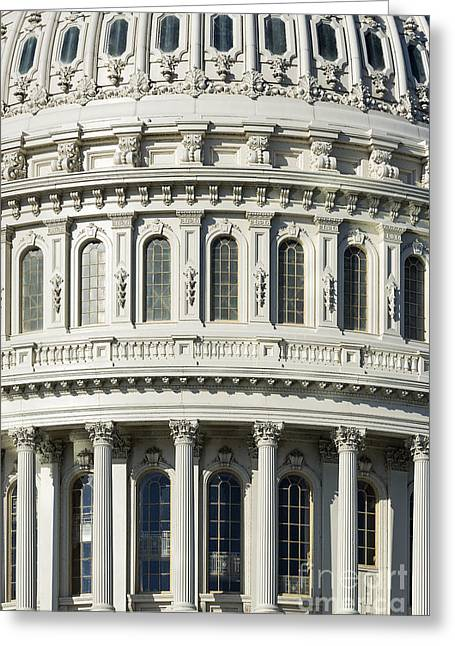 Federal Government Greeting Cards - Capitol Building Dome Greeting Card by John Greim