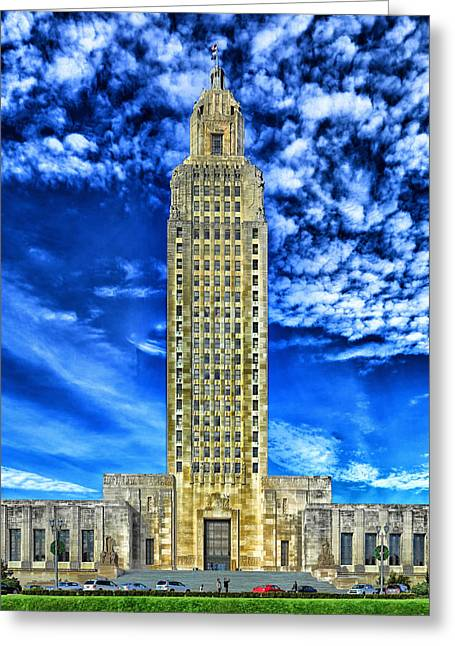Baton Rouge Greeting Cards - Capitol Building of Louisiana Greeting Card by Mountain Dreams