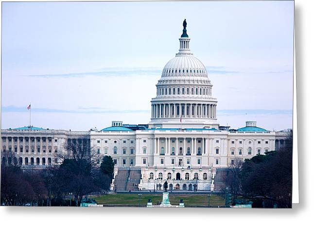 Congressman Greeting Cards - Capitol Building with Fountain Washington DC USA Greeting Card by Rostislav Ageev