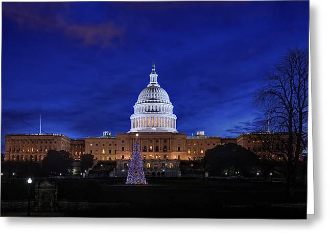 Capitol Christmas - 2013 Greeting Card by Metro DC Photography