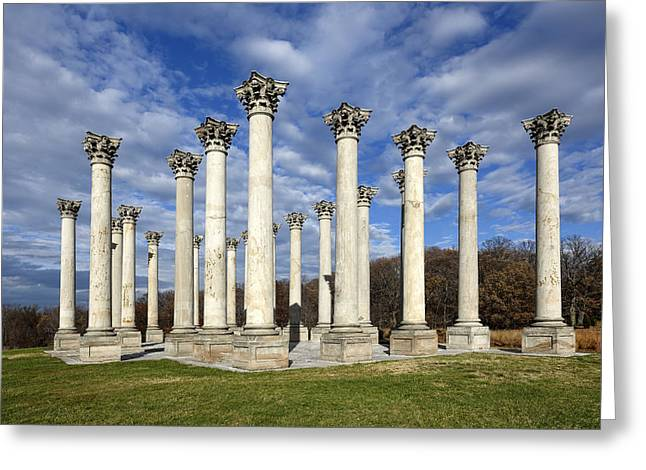 U.s. Capitol Greeting Cards - Capitol Columns - Washington D.C. Greeting Card by Brendan Reals