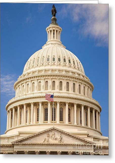 Federal Government Greeting Cards - Capitol Dome Greeting Card by Brian Jannsen