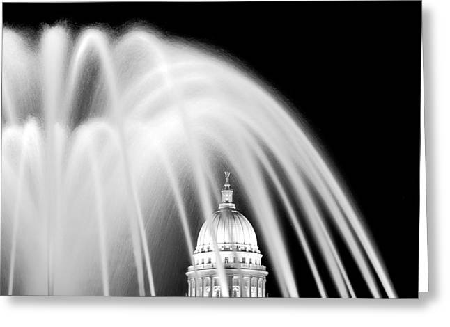 Recently Sold -  - Water Flowing Greeting Cards - Capitol Fountain Greeting Card by Todd Klassy