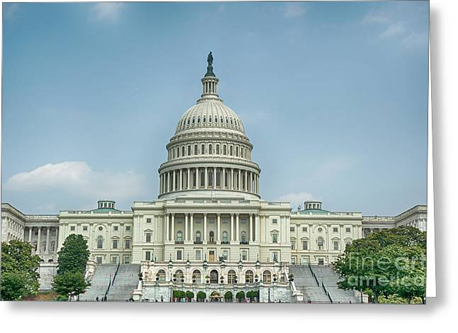 Us Senate Greeting Cards - Capitol Idea Greeting Card by Ray Warren