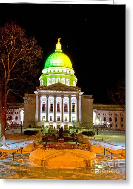 Ralser Greeting Cards - Capitol Madison Packers Colors Greeting Card by Steven Ralser