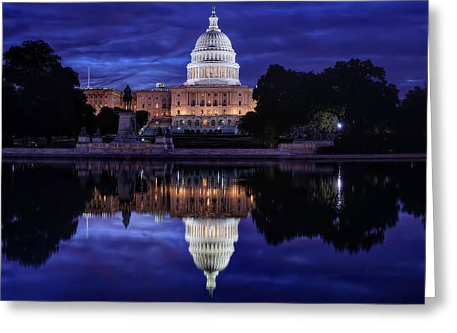 Capitol Building Greeting Cards - Capitol Morning Greeting Card by Metro DC Photography