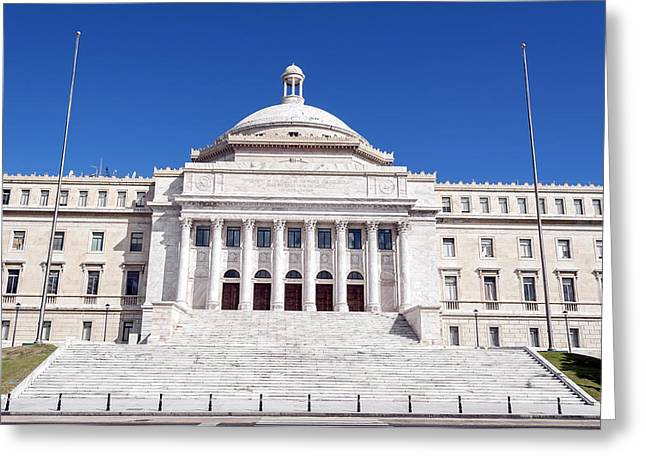 Puerto Rico Greeting Cards - Capitol of Puerto Rico. Greeting Card by Fernando Barozza