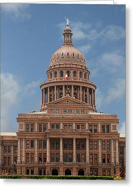 Capitol Flowers Greeting Cards - Capitol Of Texas Bule Sky Greeting Card by Linda Phelps