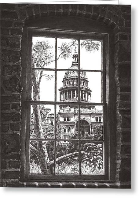 Abner Greeting Cards - Capitol of Texas Greeting Card by Norman Bean