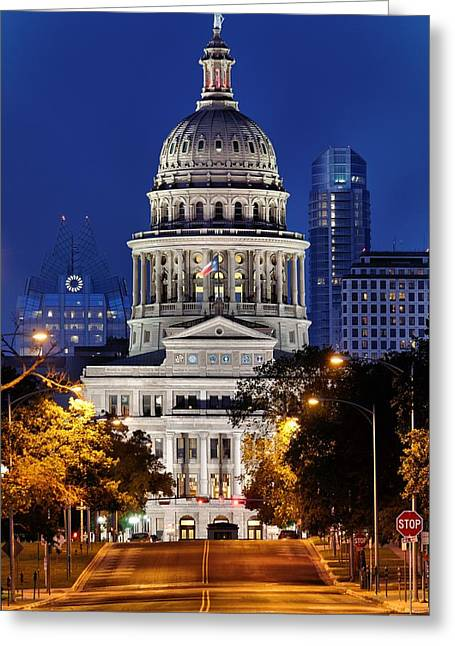 Capitol Of Texas Greeting Card by Silvio Ligutti