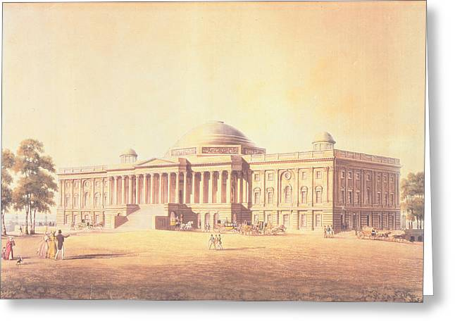 Capitol Hill Greeting Cards - Capitol Of The United States, Engraved By Thomas Sutherland, 1825 Aquatint Greeting Card by Benjamin Henry Latrobe