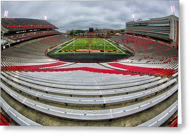 Capitol One Field Greeting Card by Mitch Cat