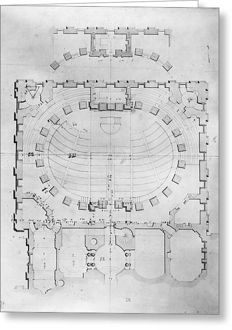 South Congress Greeting Cards - Capitol: Plan, 1804 Greeting Card by Granger