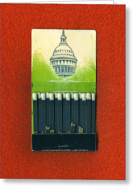 Sketchbook Greeting Cards - Capitol  Greeting Card by Alexandre  Sazonov