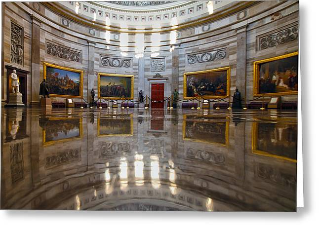 United States Capitol Greeting Cards - Capitol Rotunda Greeting Card by Mitch Cat