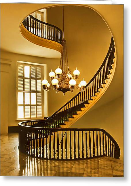 Horace Greeting Cards - 2 - Capitol Staircase - Montgomery Alabama Greeting Card by Nikolyn McDonald