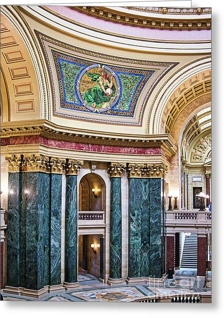 Ralser Greeting Cards - Capitol - Madison - Wisconsin Greeting Card by Steven Ralser