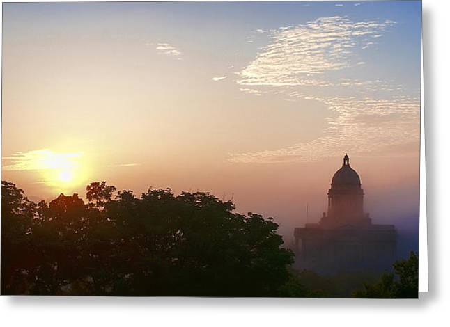 Kentucky Greeting Cards - Capitol Sunrise Greeting Card by Wayne Stacy