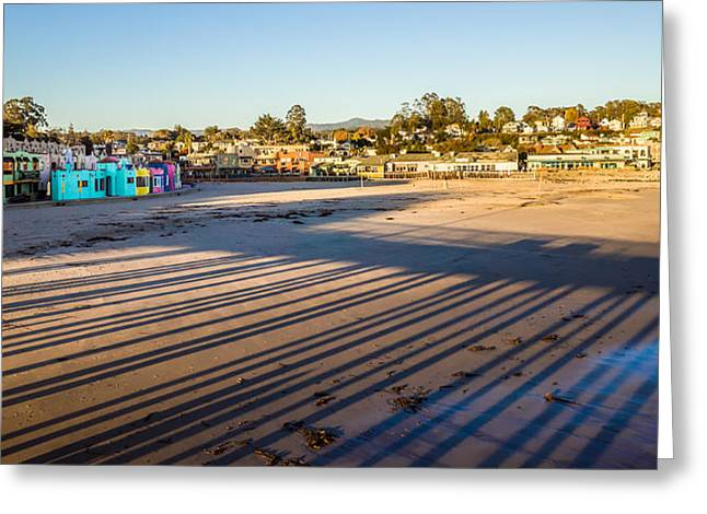Santa Cruz Pier Greeting Cards - Capitola City Beach Greeting Card by Priya Ghose