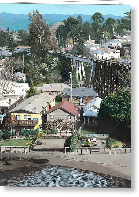 Santa Cruz Greeting Cards - Capitola Trestle Greeting Card by James Robertson