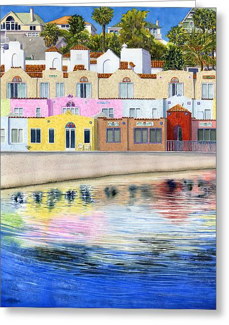 Cruz Greeting Cards - Capitola Venetian Greeting Card by Karen Wright