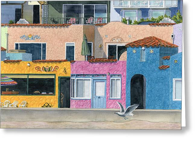 Cruz Greeting Cards - Capitola Venetian Two Greeting Card by Karen Wright