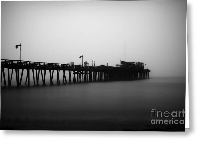 Santa Cruz Wharf Greeting Cards - Capitola Wharf Greeting Card by Paul Topp