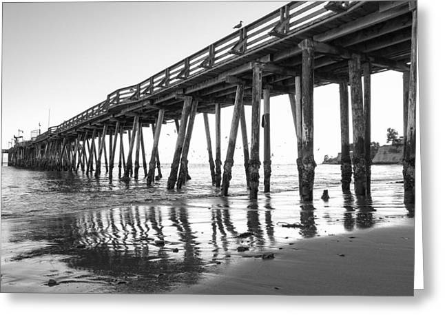 Santa Cruz Pier Greeting Cards - Capitola Wharf  Greeting Card by Priya Ghose