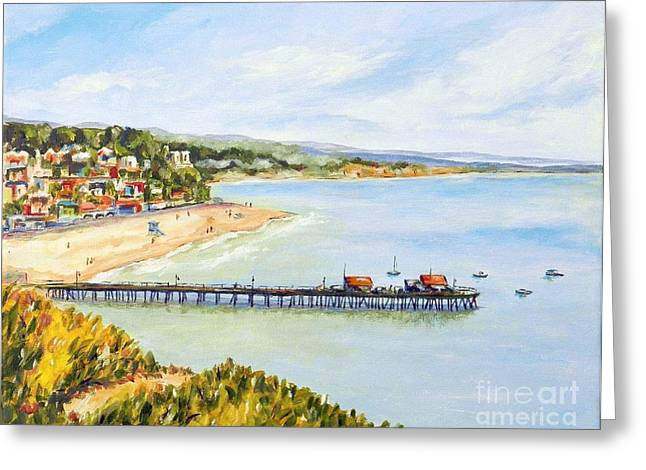 Santa Cruz Pier Greeting Cards - Capitola Greeting Card by William Reed