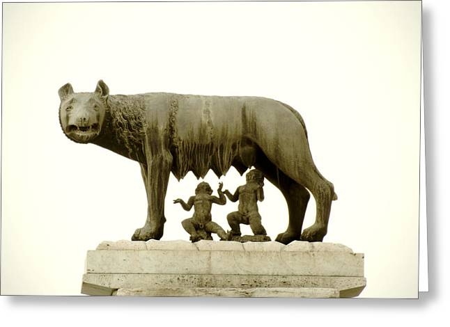 She Greeting Cards - Capitoline she-wolf Greeting Card by Fabrizio Troiani