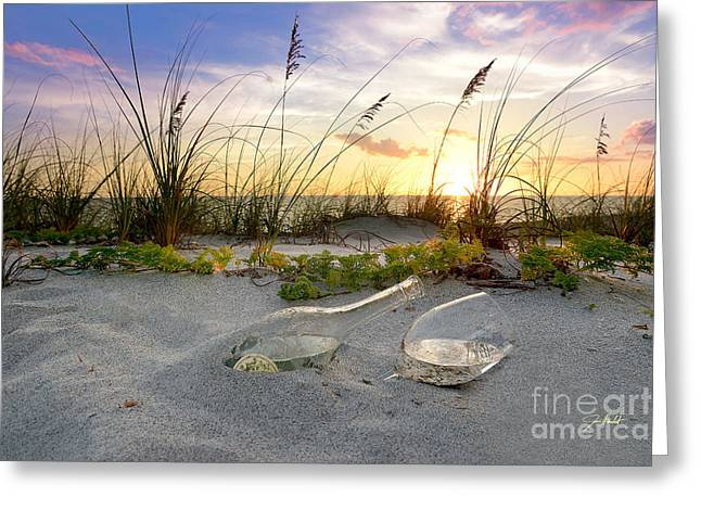 White Grape Mixed Media Greeting Cards - Captiva  Sunset Greeting Card by Jon Neidert