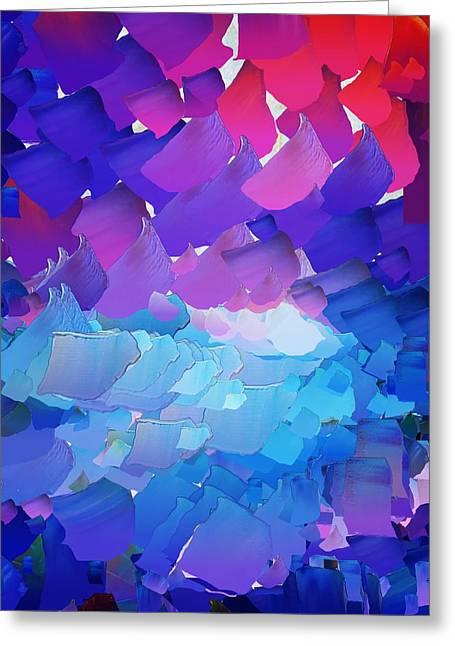 Pallet Knife Greeting Cards - CApixART Abstract 01 Greeting Card by Chris Axford