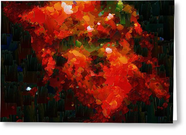 Pallet Knife Digital Greeting Cards - CApixART Abstract 03 Greeting Card by Chris Axford