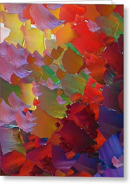 Pallet Knife Digital Greeting Cards - CApixART Abstract 05 Greeting Card by Chris Axford