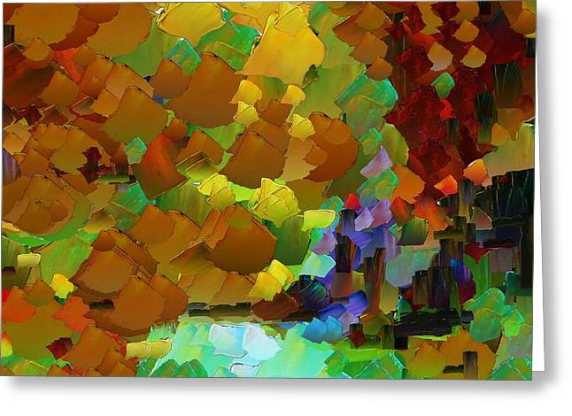 Pallet Knife Digital Greeting Cards - CApixART Abstract 07 Greeting Card by Chris Axford