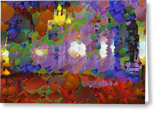 Pallet Knife Digital Greeting Cards - CApixART Abstract 09 Greeting Card by Chris Axford