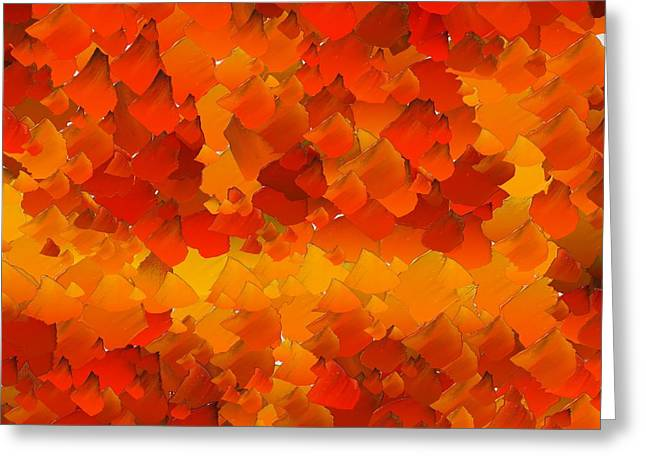 Pallet Knife Greeting Cards - CApixART Abstract 105 Greeting Card by Chris Axford