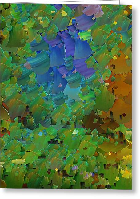 Pallet Knife Digital Art Greeting Cards - CApixART Abstract 11 Greeting Card by Chris Axford
