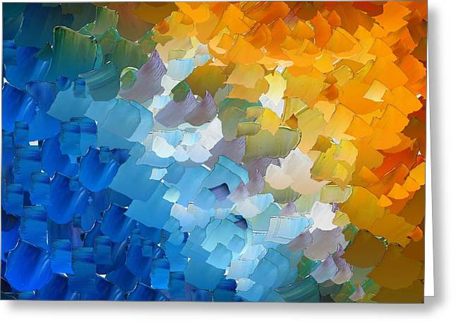 Pallet Knife Greeting Cards - CApixART Abstract 110 Greeting Card by Chris Axford