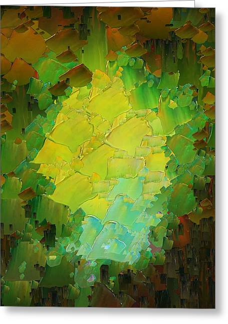Pallet Knife Digital Art Greeting Cards - CApixART Abstract 13 Greeting Card by Chris Axford