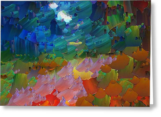 Pallet Knife Digital Art Greeting Cards - CApixART Abstract 14 Greeting Card by Chris Axford