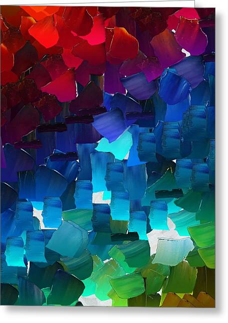 Pallet Knife Greeting Cards - CApixART Abstract 15 Greeting Card by Chris Axford