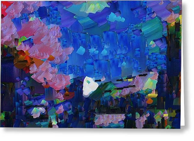Pallet Knife Digital Greeting Cards - CApixART Abstract 16 Greeting Card by Chris Axford
