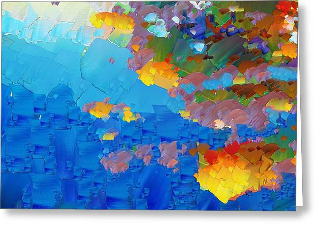 Pallet Knife Digital Greeting Cards - CApixART Abstract 17 Greeting Card by Chris Axford