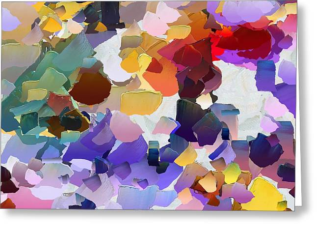 Pallet Knife Digital Art Greeting Cards - CApixART Abstract 20 Greeting Card by Chris Axford