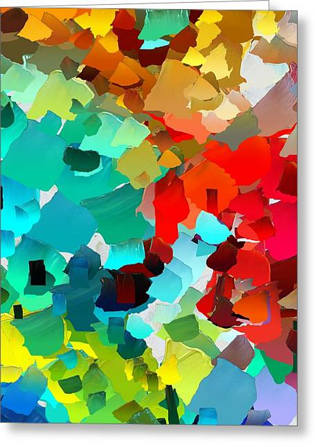 Pallet Knife Greeting Cards - CApixART Abstract 21 Greeting Card by Chris Axford