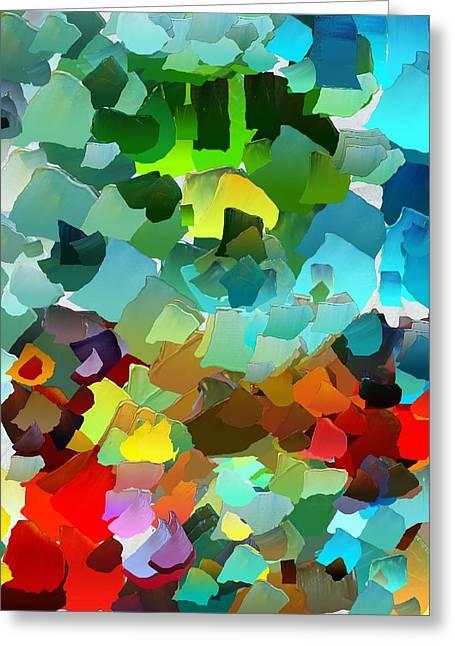 Pallet Knife Greeting Cards - CApixART Abstract 23 Greeting Card by Chris Axford