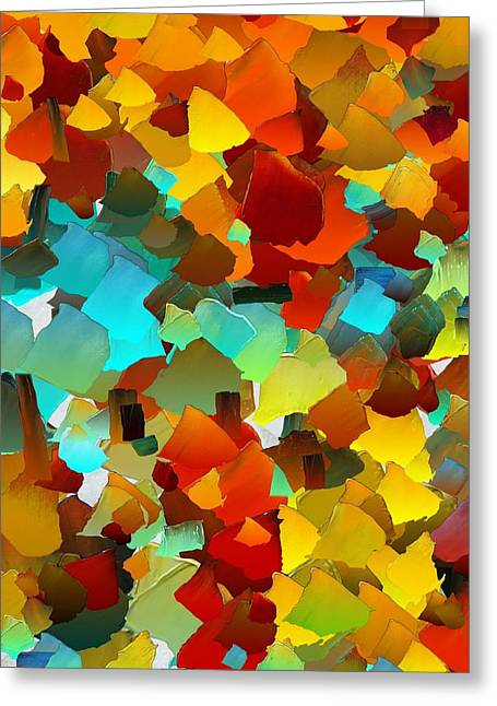 Pallet Knife Greeting Cards - CApixART Abstract 24 Greeting Card by Chris Axford