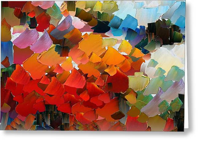 Pallet Knife Digital Greeting Cards - CApixART Abstract 25 Greeting Card by Chris Axford